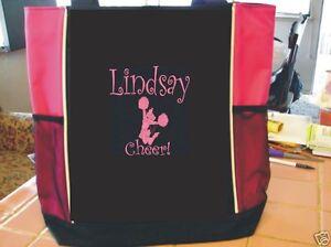 tote bag cheer gym birthday song team gift friend cheerleader dance