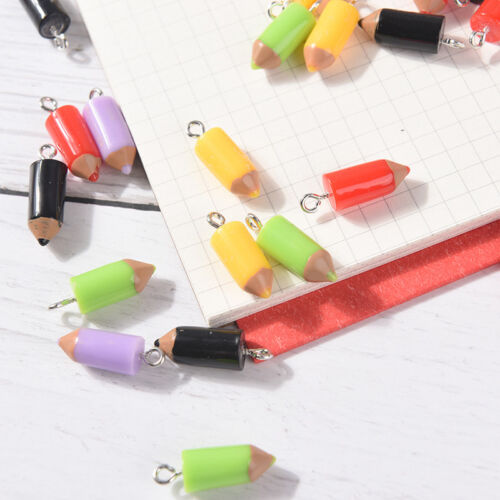 10PCS Mixed Pencil Jewelry Crafts Charm Pendant Keychain Necklace DIY Finding AQ