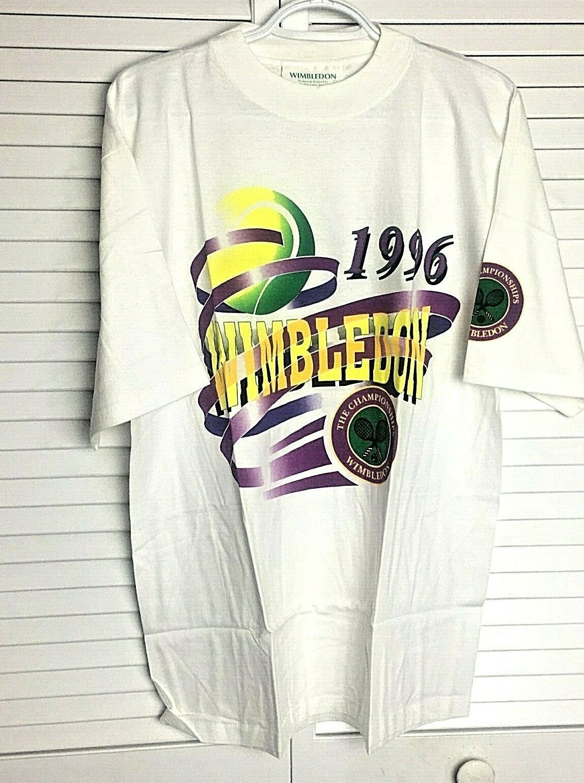 Vintage 1996 Wimbledon Museum Shop Tshirt Mens L White New