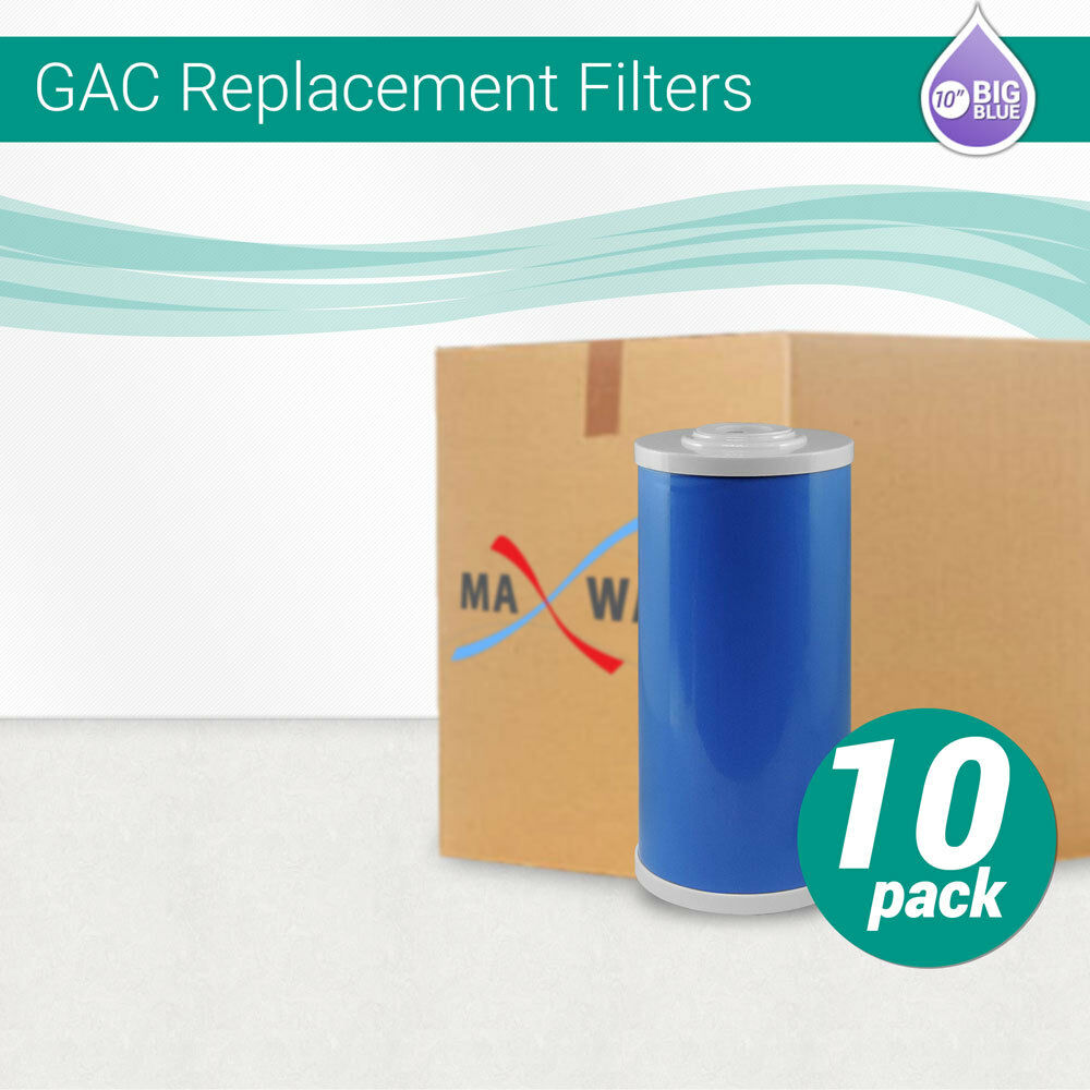 10) 10 x4.5 Whole House Big Blau UDF Granular Activated GAC Carbon Water Filter