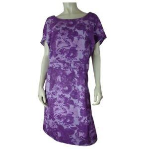 Isaac-Mizrahi-Live-Dress-22W-NEW-Pullover-Cotton-Spandex-Purple-Floral