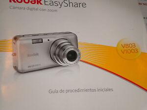 kodak v803 or v1003 paperback booklet manual in spanish or portugal rh ebay com  kodak easyshare v1003 manual