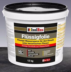 Original Flüssigfolie 12 kg Dichtfolie Abdichtung für Bad,Dusche,Küche Profiware