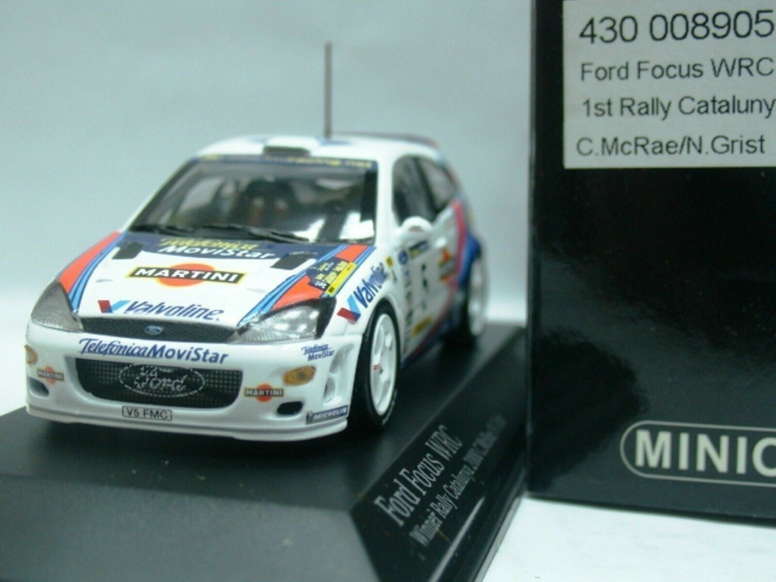 WOW EXTREMELY RARE Ford Focus RS WRC 2000 McRae 1st Catalunya 1 43 Minichamps