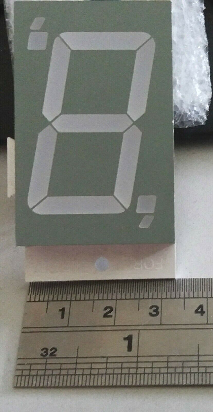 7 Segment LED Displays red interlocking pack of 5 segments 38mm x 60mm