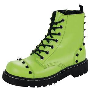 7 T2197 Anarchic Neon 38 Eye Black u Boot Studs Green T Eu UK k Ladies 5 ZwqIpF1