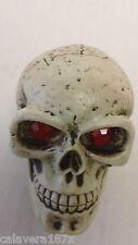 Demon Red Ruby Eye Dead Head Skull Shift Knob Zombie Solid Resin Car Gear Lever