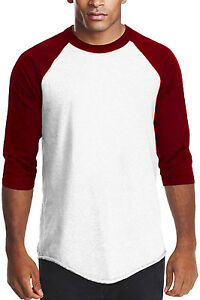 White Burgundy Long sleeve raglan T shirt Men s Raglan baseball T ... 2772a7741a4fa