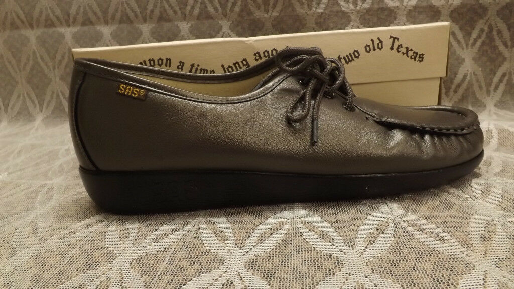 Special air service  Siesta  Nouveau étain Lacets Mocassin chaussures en cuir NEW IN BOX Sz 10 N Usa Made