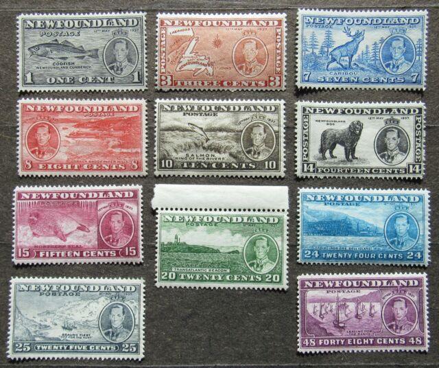 Newfoundland 1937 King George VI, Mi #221-31 MH compl.set