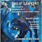 Philip Sawyers: Cello Concerto; Symphony No. 2; Concertante for Violin, Piano & Strings (2014)