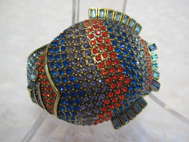 HEIDI DAUS  Gone Fishing  Size M L Cuff Bracelet (Orig. 239.95)-RARE