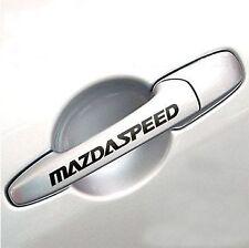 MAZDASPEED 3 5 6  CX7 RX7 Mazda Door Handle Decal sticker emblem logo BLACK pair