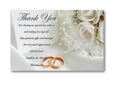20 Personalised Funeral Remembrance Thank You cards Ref TH11