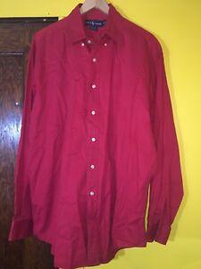 d76cd83b8ea Ralph Lauren Blaire Mens Long Sleeve Button Down Dress Shirt Red ...