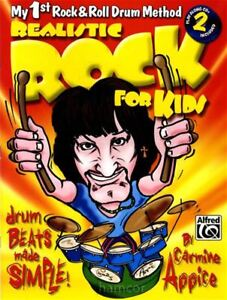 Efficace Realistic Rock Pour Enfants Rock & Roll Drum Method Tutor Book & 2cds Carmine Appice-afficher Le Titre D'origine