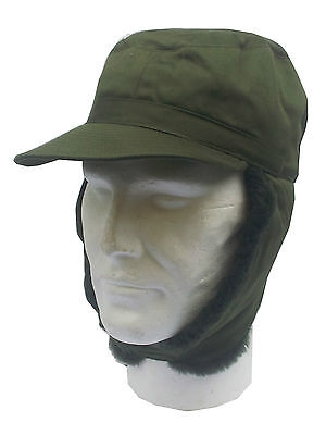 Genuine Surplus Swedish Military Cold Weather Winter Ear Cover Army Hat Peak