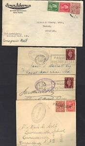 UK-GB-1930-039-s-4-PAQUEBOT-CVR-DIFF-STEAMSHIPS-1-WITH-MIXED-FRANKING-WITH-US-STAMPS