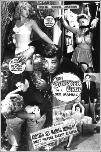 "The Sinister Urge Ed Wood Movie Poster Replica 13x19/"" Photo Print"