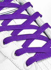 FLAT-PURPLE-SHOE-LACES-SHOELACES-8mm-wide-11-LENGTHS-VERY-HIGH-QUALITY