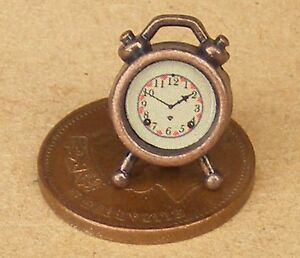 1:12 Scale Non Working Red Alarm Clock Bedroom Tumdee Dolls House Miniature