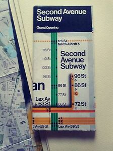 New Second Avenue Subway Map.Details About New York City Mta Subway Map Second Avenue Grand Opening