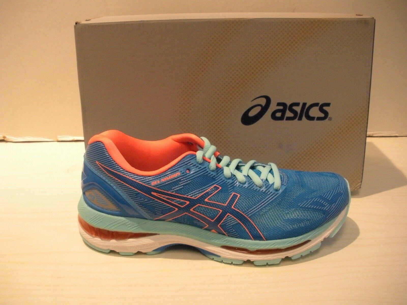 ASICS WOMENS GEL-NIMBUS 19 RUNNING SHOES-SNEAKERS-T750N-4987- DIVA blueE- 7, 9