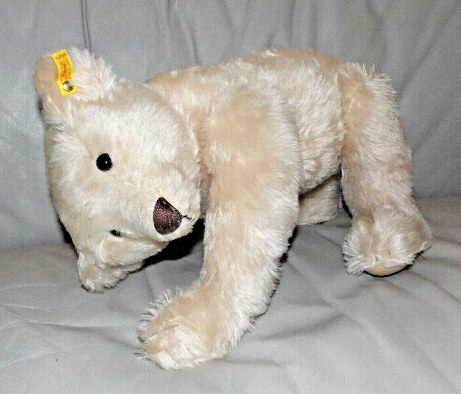 20  STEIFF Bear Replica Blond Mohair Like Jointed Vocal