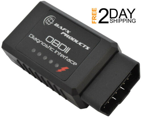 BAFX Bluetooth Diagnostic OBDII Reader//Scanner for Android Devices Check Engine