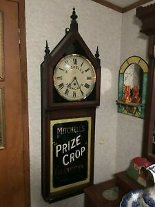 Rare-Victorian-Mitchell-039-s-Prize-Crop-Tobacco-Cigarettes-Advertising-Wall-Clock