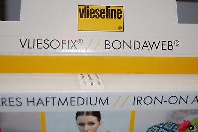 Vilene//Vlieseline Bondaweb Fusible Iron-on Adhesive Paper 44cm W Per 1//2 Metre