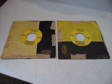 Vtg. 2 EPIC Records The Staple Singers - 45's - 'Step Aside' 'King of Kings' ++