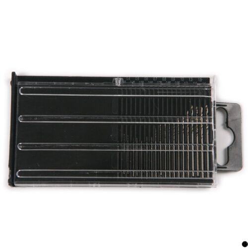 20x Mini Micro HSS Twist Drill Bit 0.3-1.6mm Model Craft With Case for non-metal