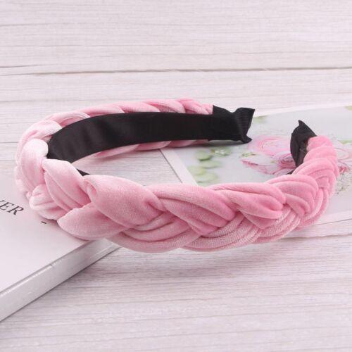 Women/'s Braided Twist Hairband Headband Velvet Headwrap Hair Hoop Accessories