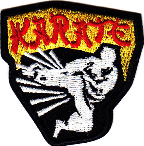 KARATE Iron On Patch Sports Martial Arts