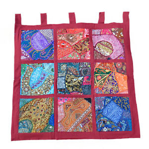 Details About Fair Trade Patchwork Indian Wall Hanging