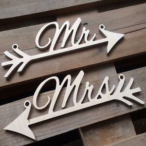 Rustikales Holz Mr Mrs Arrow Zeichen Hochzeit Stuhl Dekoratio Zp