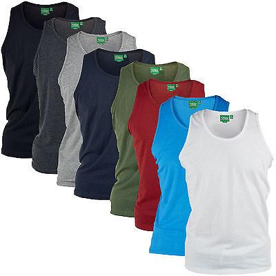 Grey 1XL-6XL D555 By Duke Kingsize Big Mens Large Muscle Vest Top Sleeveless Tank Gym Vest