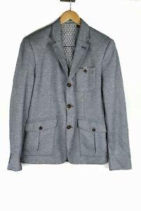 Ted-Baker-London-Blue-Three-Button-Three-Pocket-Cotton-Jacket-Size-3-M