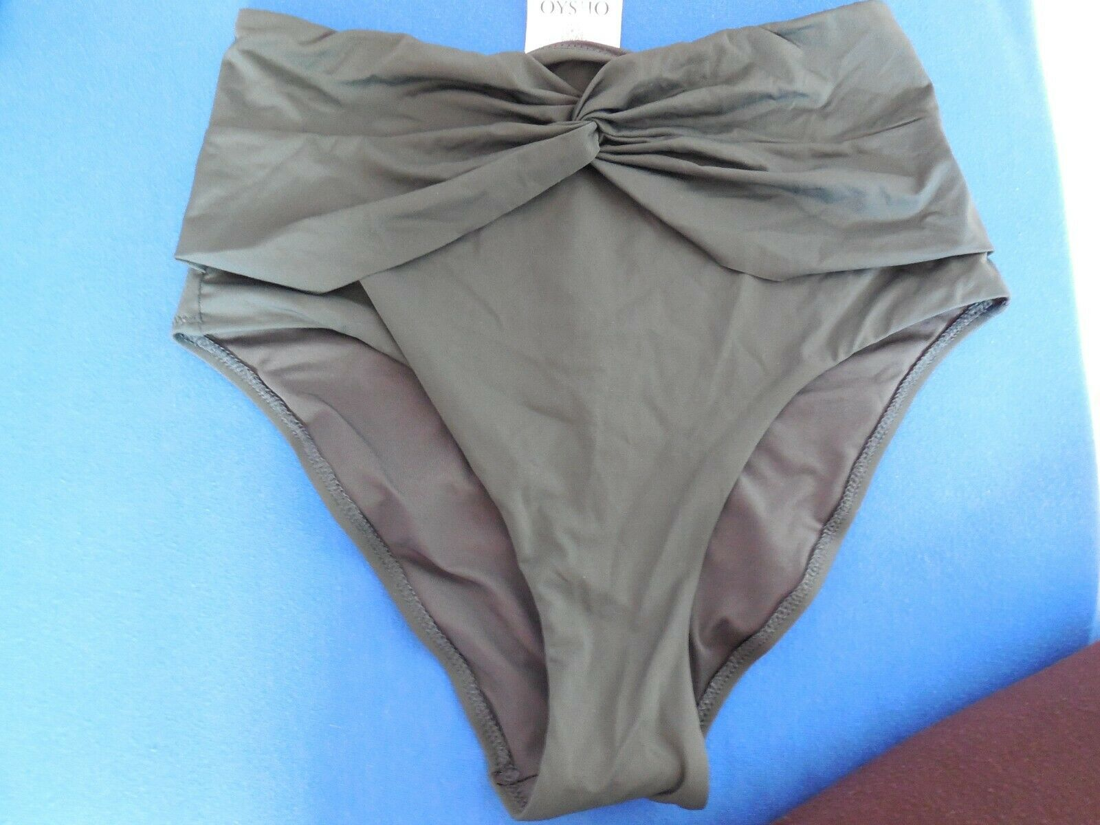 oysho hoch geschnittener bikinislip badehose ultramar-grÜn