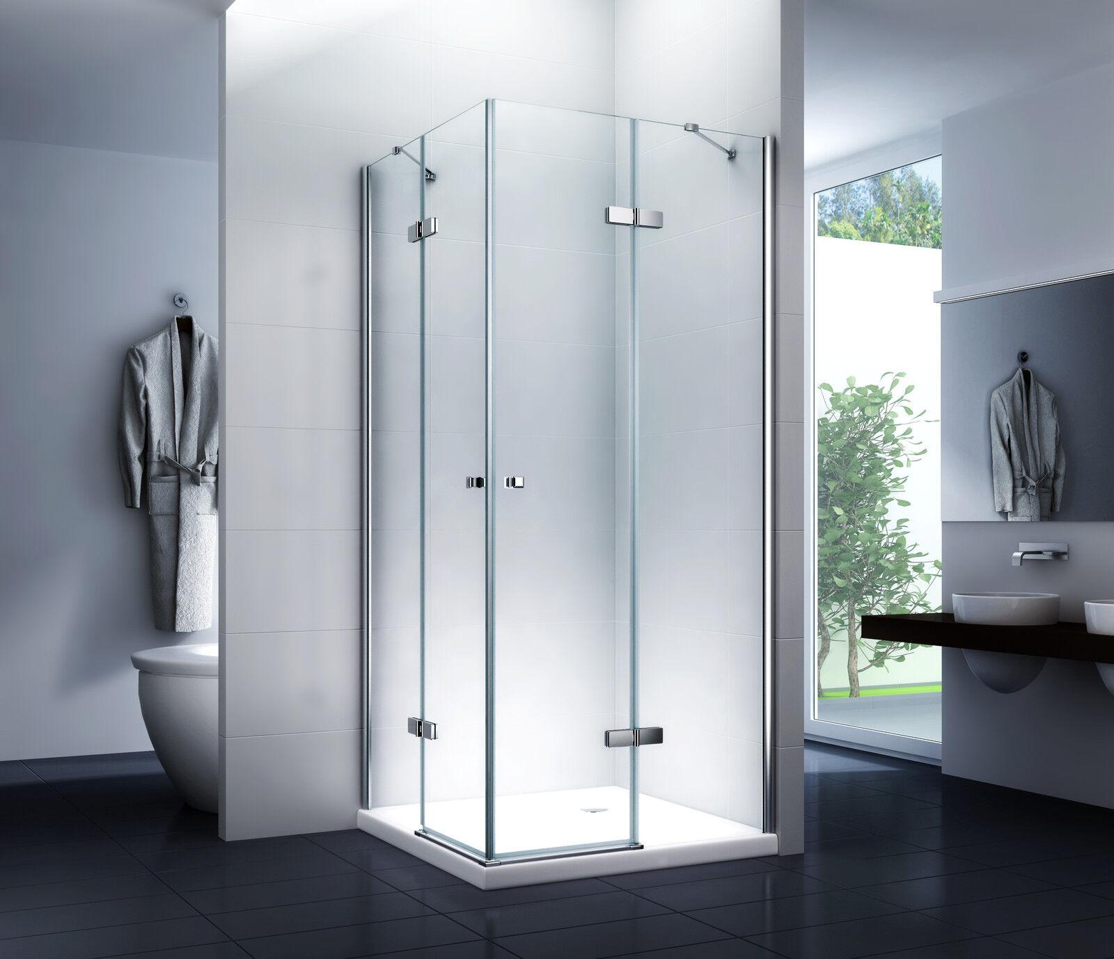 Duschkabine - Duschwand - Dusche -  Sina 100x80x195cm   8mm   ohne Duschtasse