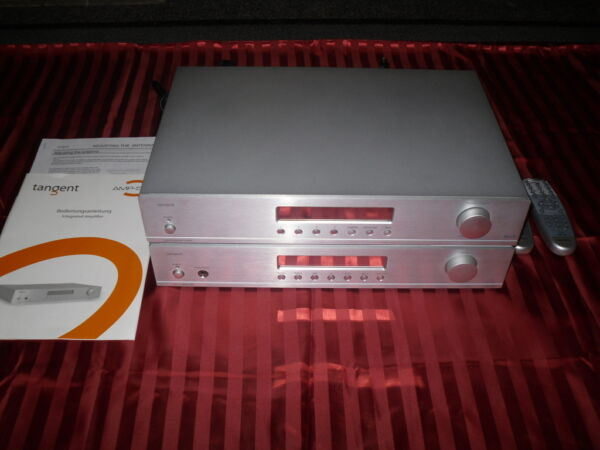 Actief Verstärker Tangent Amp-50 & Dab-tuner Dab-50 Silber Exquise Vakmanschap;