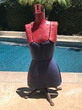 Antique Dress Form Adjustable Cast Iron Base Material Fiber Board