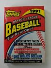 Topps 1991 MLB Baseball Card Waxpack 15 Picture Cards