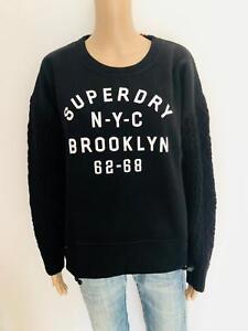 Superdry-schoenes-Sweatshirt-mit-Strick-in-schwarz-NEU-Gr-L-40-2112n