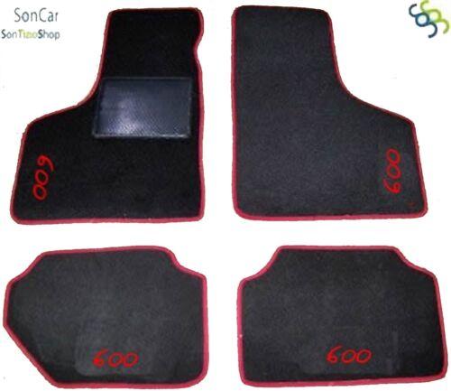 FIAT 600 d/'epoca TAPPETI tappetini AUTO 4 decori