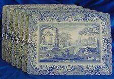 SET OF 6 PIMPERNEL SPODE BLUE ITALIAN PLACEMATS