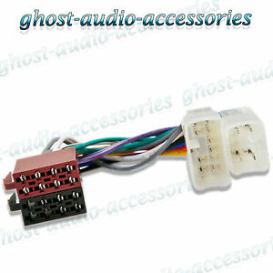 toyota avensis verso iso car radio stereo harness adapter wiring Sony Car Stereo Wiring Adapter image is loading toyota avensis verso iso car radio stereo harness