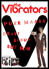 "THE VIBRATORS PURE MANIA Retro Punk Poster A1 Size 84.1cm x 59.4cm - 33"" x 24"""