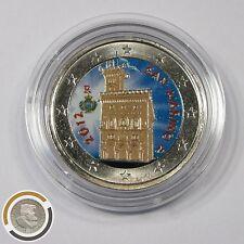 San marino 2012 palacio de gobierno Palazzo colorierte 2 euros moneda farbmünze (507